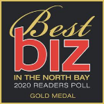 Graphic showing Summit State Bank as a Best Biz in the North Bay winner from the 2019 Readers Poll